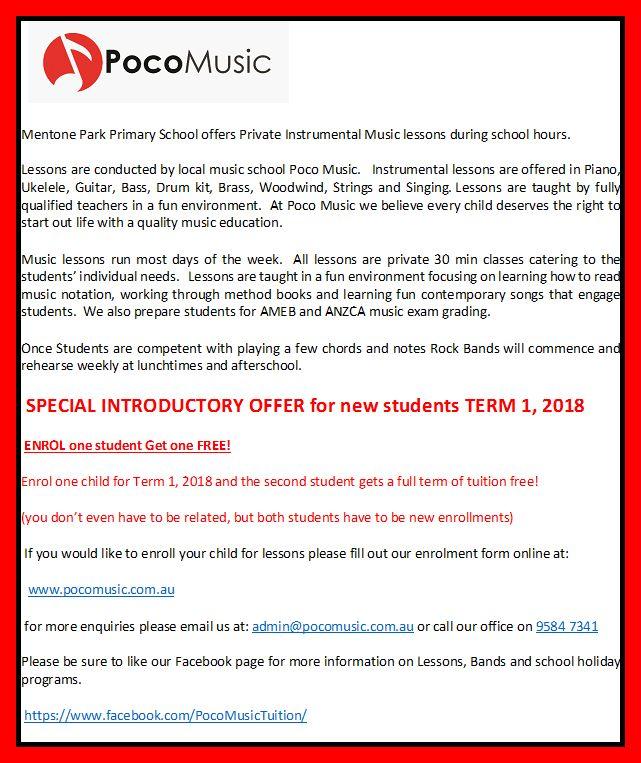 Mentone Park Primary School Newsletter Newsletter 202017
