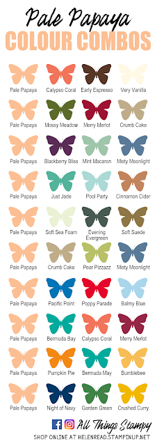 Stampin Up In Colors 2021 colour combinations Pale Papaya