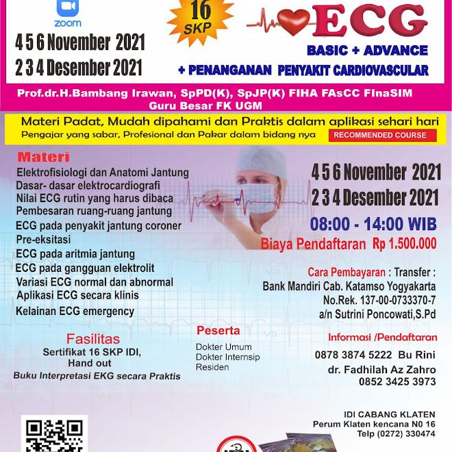 (16 SKP IDI) Intensive Course ECG  Penaganan Basic+Advance  Penyakit Cardiovascular