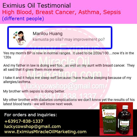 Eximius Oil Health Benefits