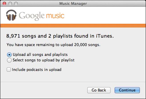 installez google music manager
