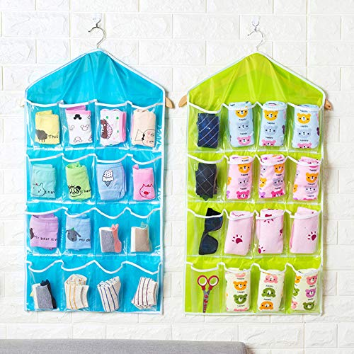 80% off Angoo 16 Grid Clothing Socks Underwear Wall Door Sorting Storage Bag Hanging Shelves