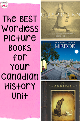 This blog post includes the best wordless picture books for teaching Canadian History. Students will learn about the Underground Railroad, Immigration and Identity through these wordless picture books activities and lessons. Plus get a free digital reading response activity that can be used as a check in with any wordless picture book. Students will practice making inferences and reading workshop. Wordless picture books are great for inferring! Perfect for Alberta Grade 5 Social Studies Classes