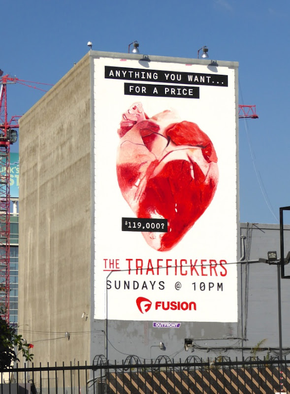 Traffickers series launch billboard