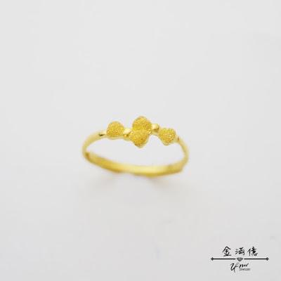 蝴蝶結黃金戒指