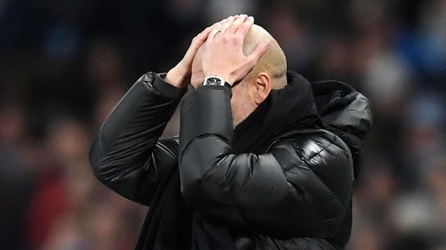Pep Guardiola kalah lagi. Manchester City keok lagi.