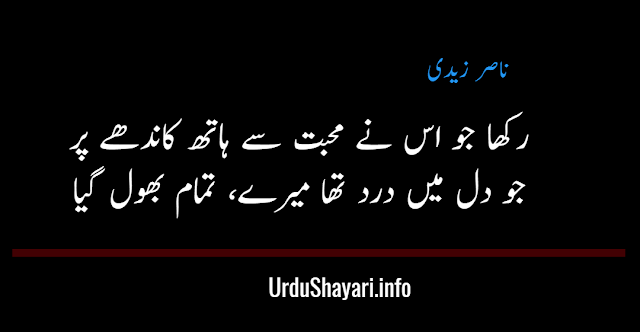 two lines best urdu shayari - nasir zaidi shayari for sms and status