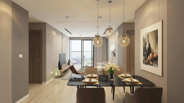Thiết kế phòng khách căn hộ HPC Landmark 105