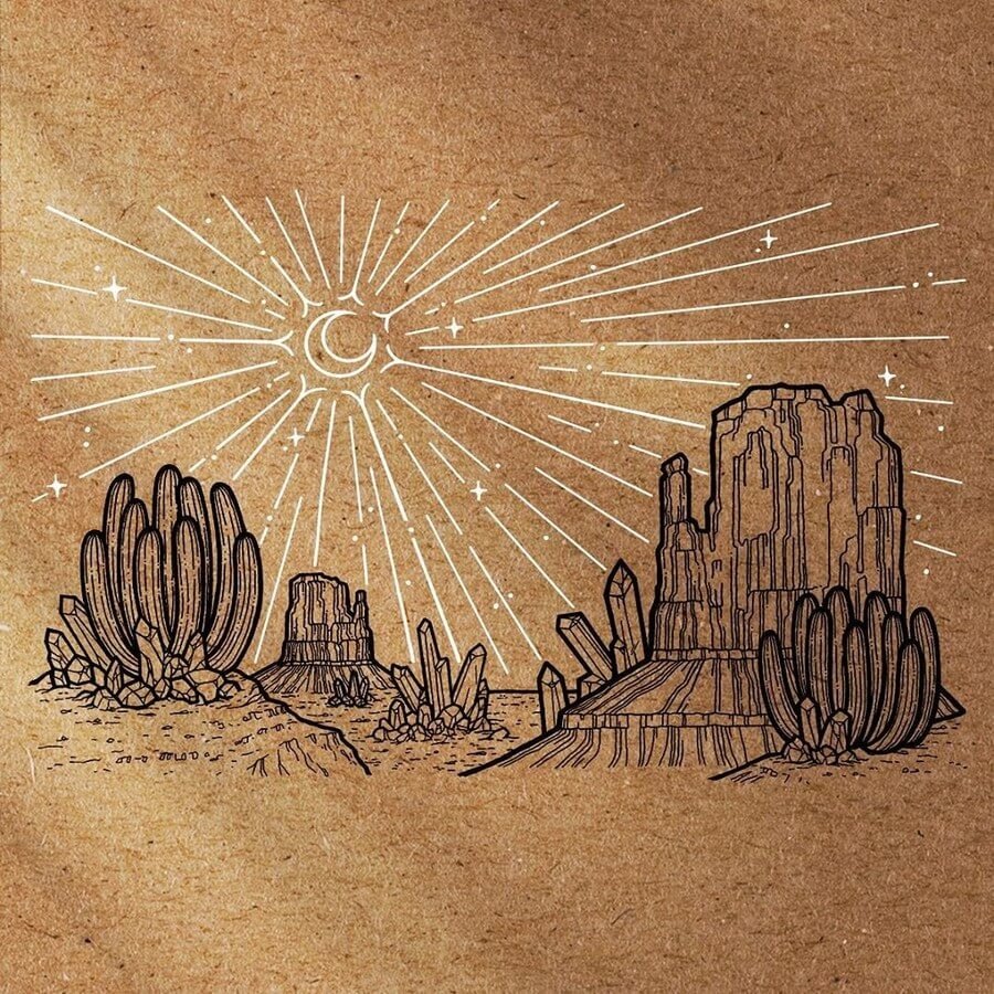 09-The-sun-and-the-desert-Eléna-Le-Gal-Fantasy-Drawings-www-designstack-co