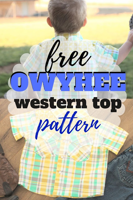 FREE Owyhee Western Shirt Pattern for Hank & Clementine Fabric Tour - Sew Simple Home