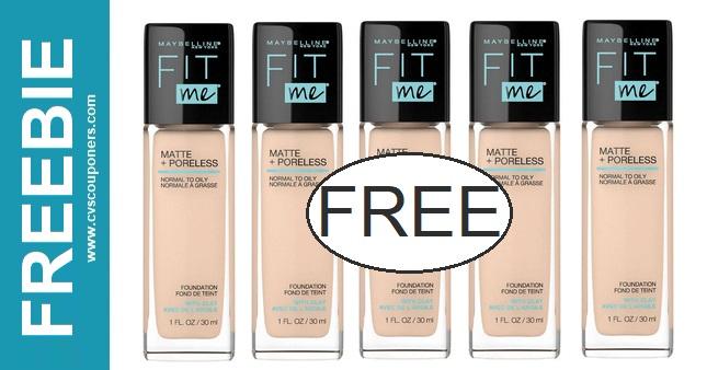FREE Maybelline Fit Me Foundation CVS Deal 2-7-2-13