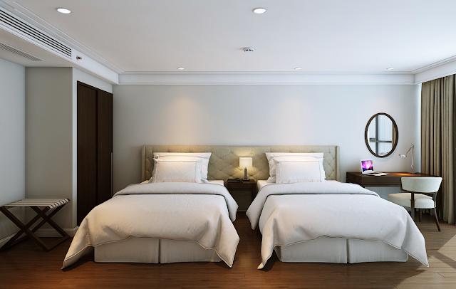 Phòng ngủ căn hộ mẫu dự án Luxury Apartment Mỹ Khê