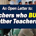 An Open Letter to Teachers who Bully other Teachers