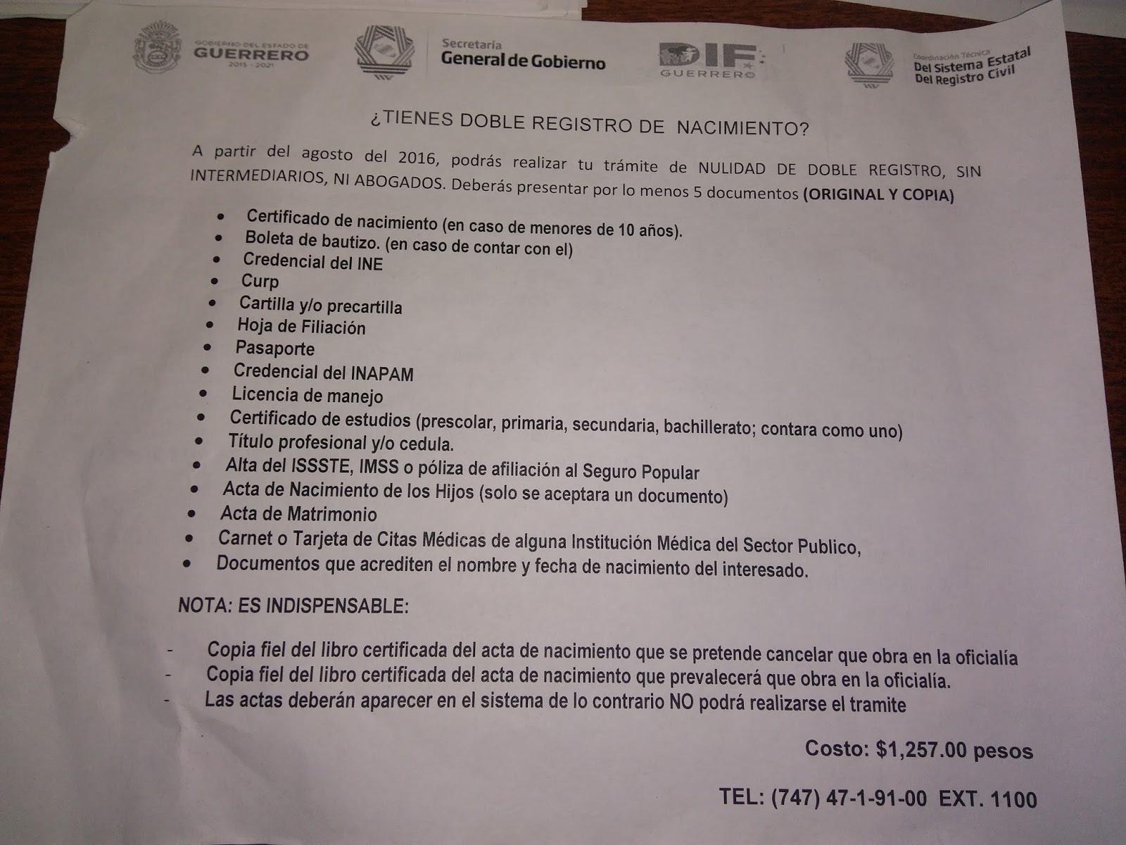 ZihuacostaS ...........: Burocrático tramite para anular doble ...