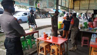 Kapten Arm Patar Silalahi Pimpin Patroli Yustisi Penerapan PPKM