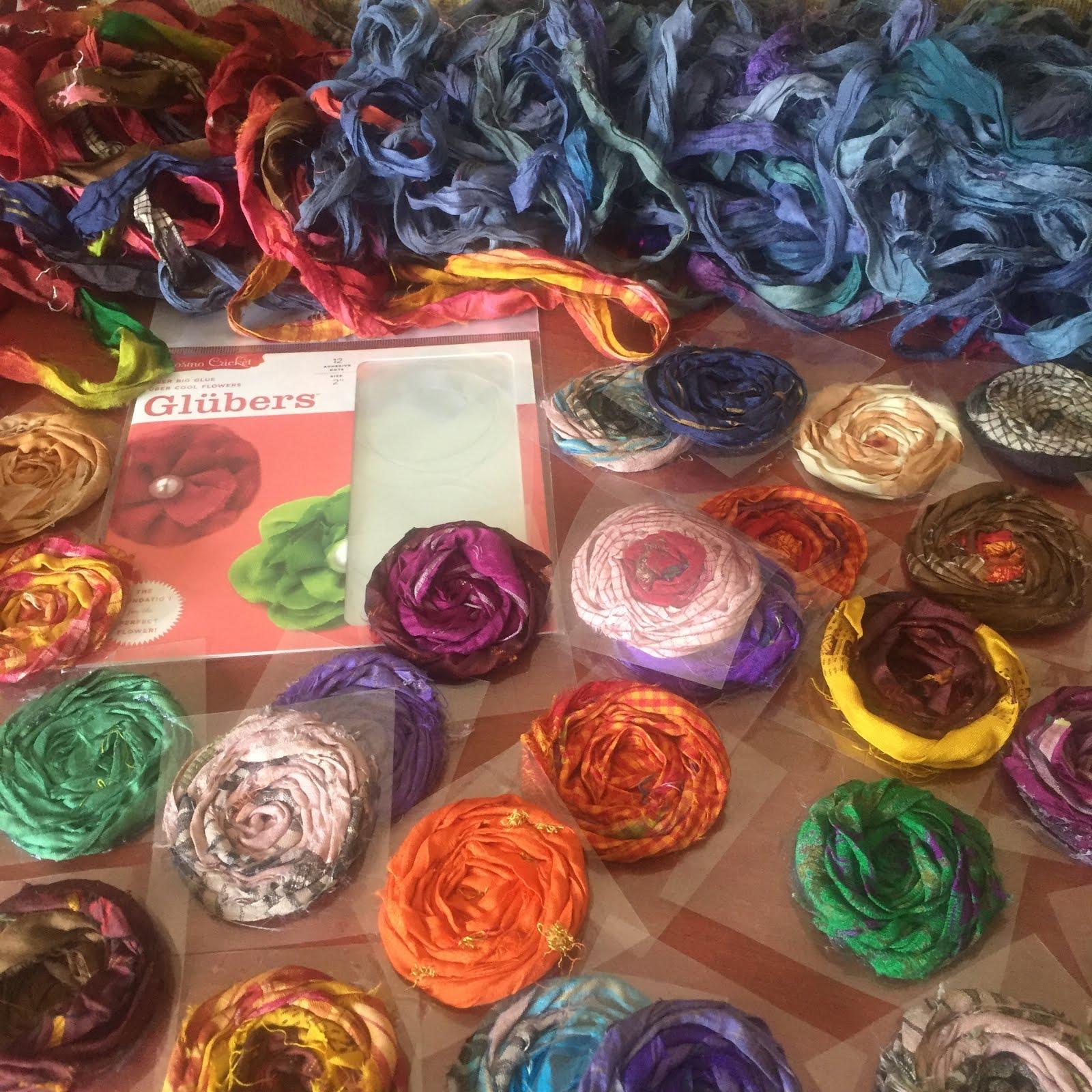 Silk Sari Rosette Pumpkins | Nellie's Cottage