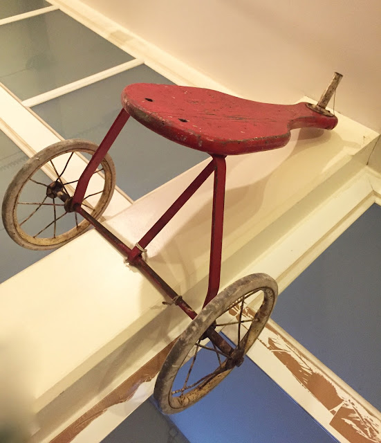 triciclo, antigo, vintage, decoração, brinquedos, madeira