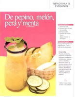 Jugos saludables pepino melon pera y menta