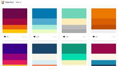 تناسق وتدرج ألوان فوتوشوب   لمصممين الجرافيك والدعاية والاعلان افضل المواقع للحصول على ألوان متناسقة وتدرجات لونية لتصميمك