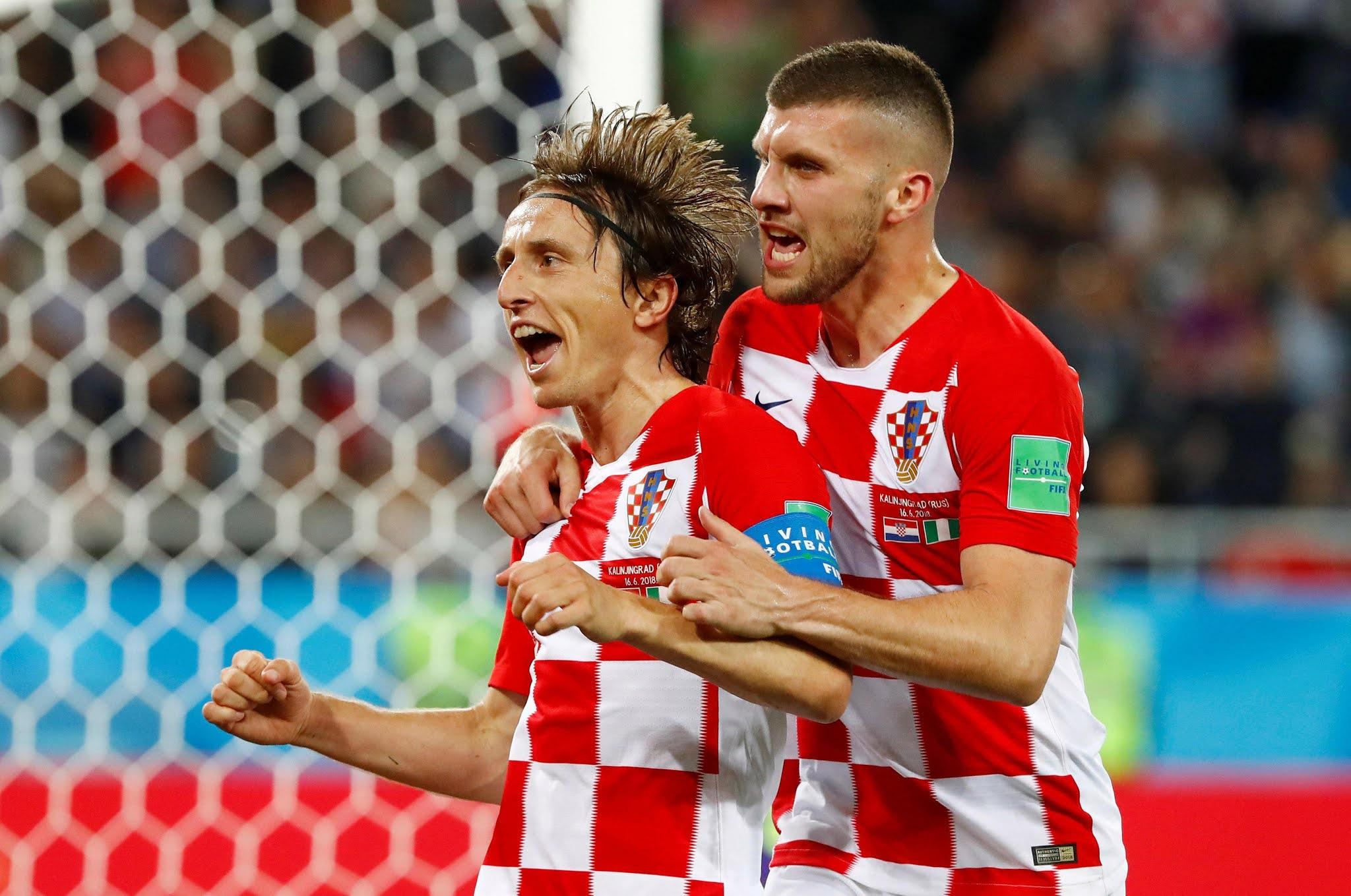 Croatia captain Luka Modric and AC Milan forward Ante Rebic