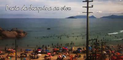 Câmera ao vivo da Praia da Joaquina