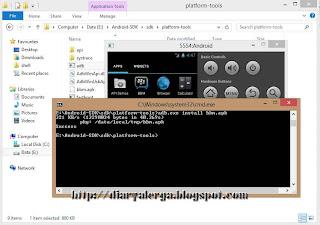 langkah install bbm komputer