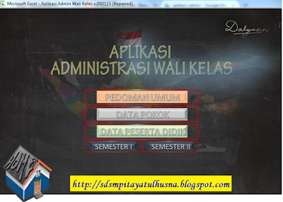 Download Format administrasi Guru Kelas SD KTSP