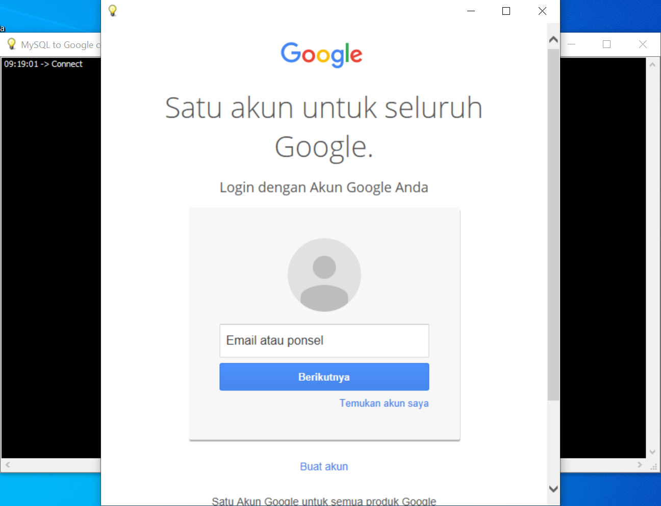 Integrasi MySQL ke Google Contacts