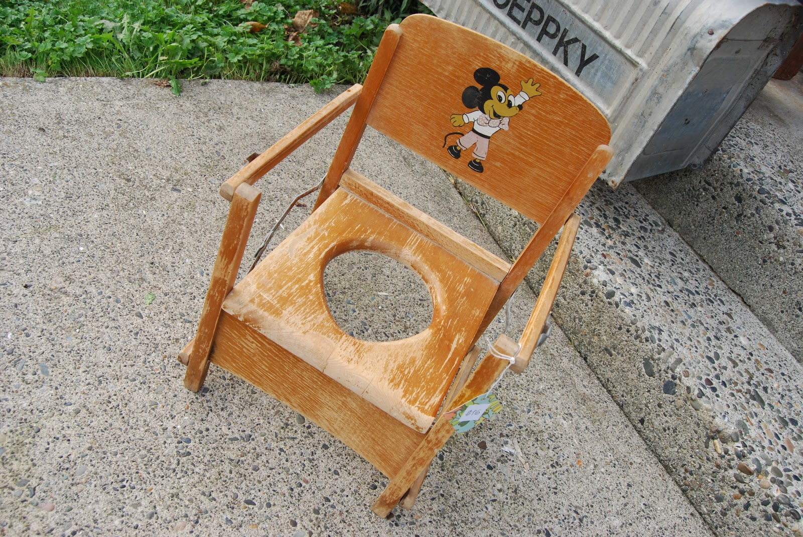 wooden potty chair chairs that sit on the floor lucky and lou 39s second hand news folding