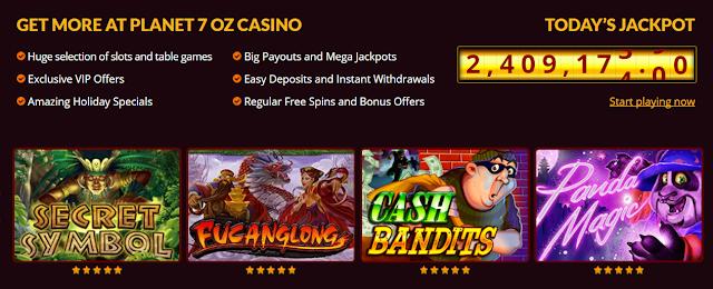 Big Jackpots at Planet7Oz Casino