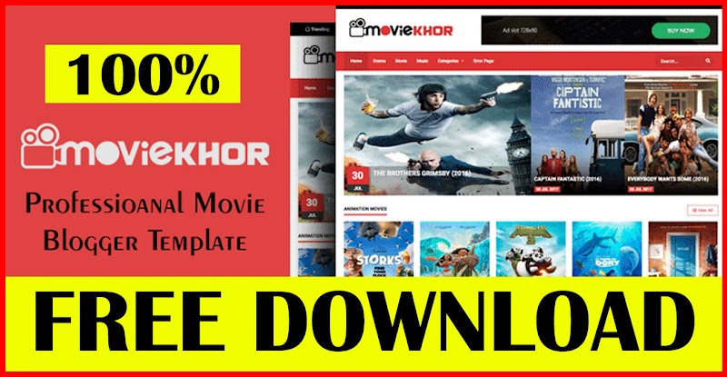 MovieKhor - Professional Movie Blogger Template Free Download