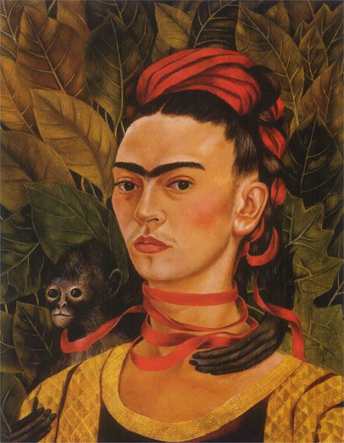 Фрида Кало - Автопортрет с обезьянкой. 1940