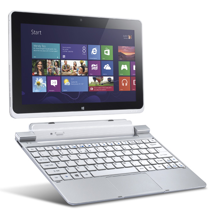 Iconia W510 PC Tablet dengan keyboard