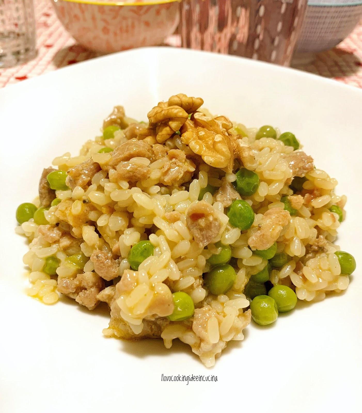 Ilovecooking_idee_in_cucina: Risotto Salsiccia, Piselli & Noci