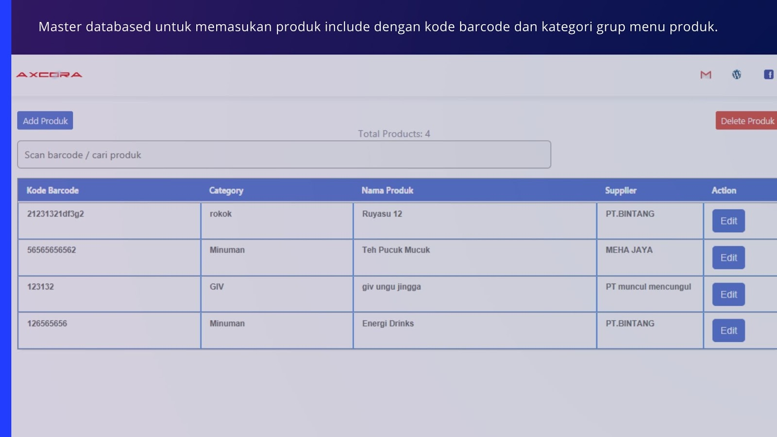 Aplikasi Online Kasir penjualan web based android iphone