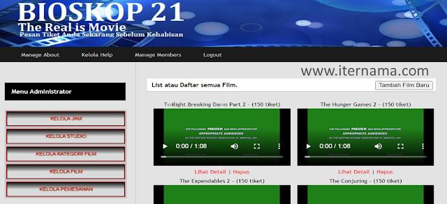 Source Code Aplikasi Pemesanan Tiket Bioskop