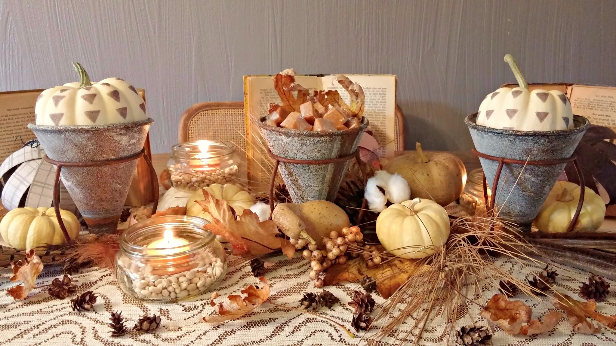 An Eclectic Fall Tablescape