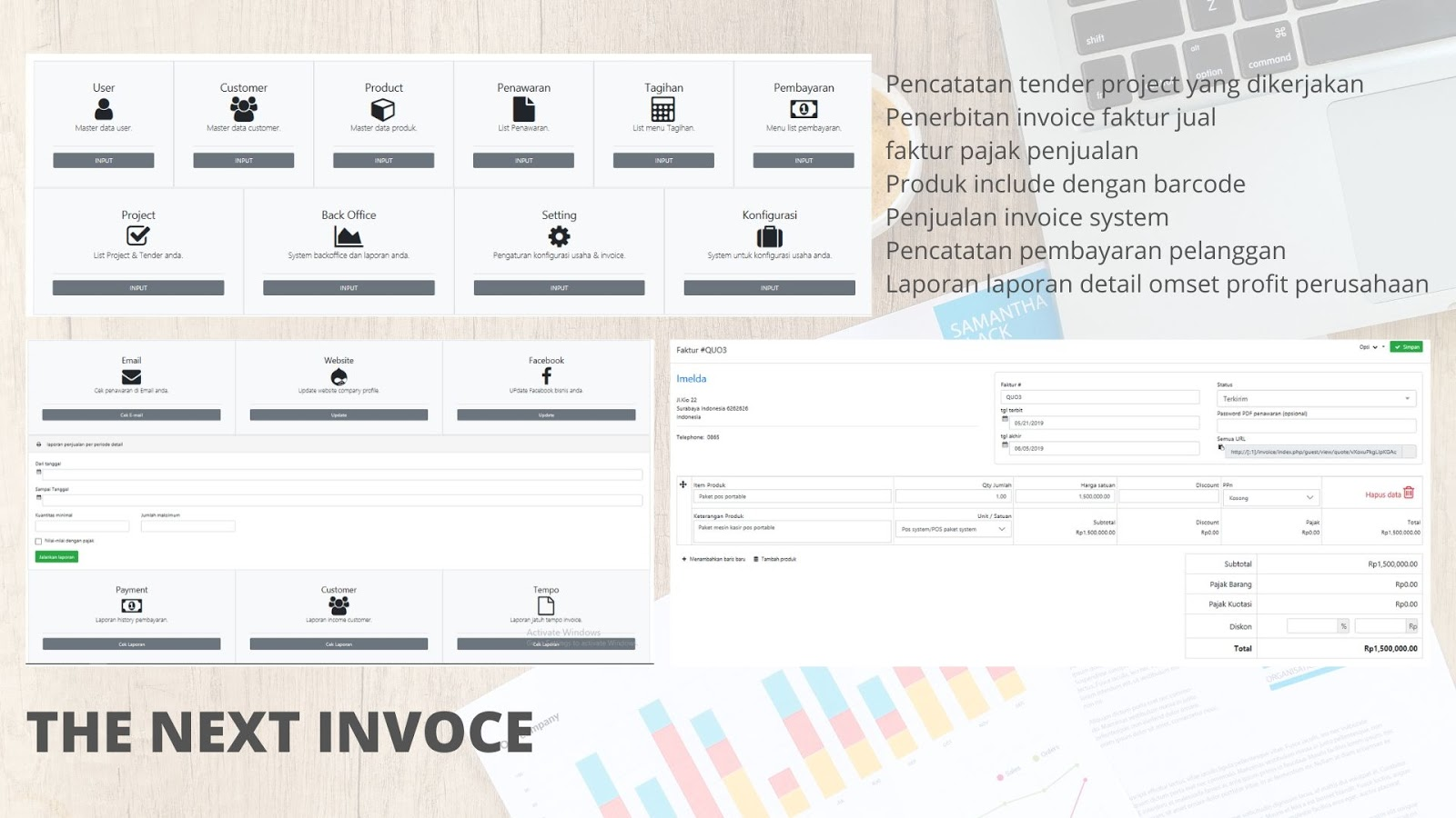 invoice online dan tender project