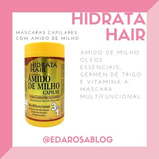 creme capilar amido de milho hidrata hair