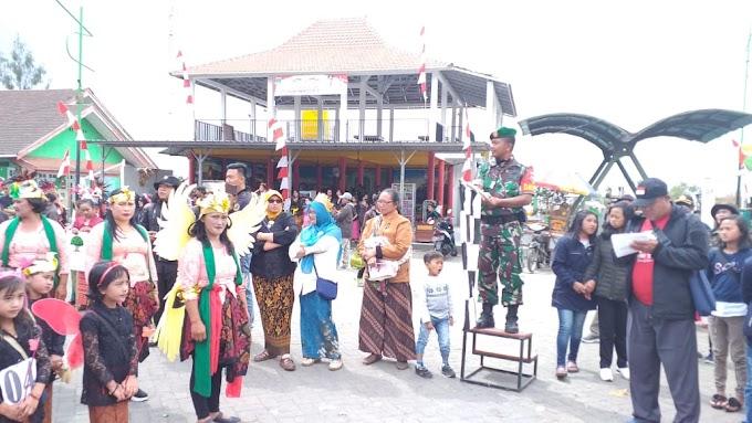 Babinsa Amankan Karnaval Se Kecamatan Tosari