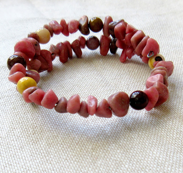 Rhodonite mookaite speed of light science physics sciart jewelry