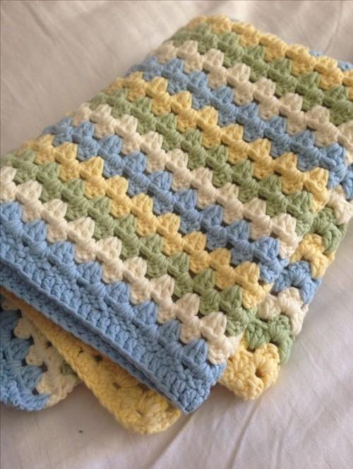 Granny Stripe Baby Blanket - Free Pattern