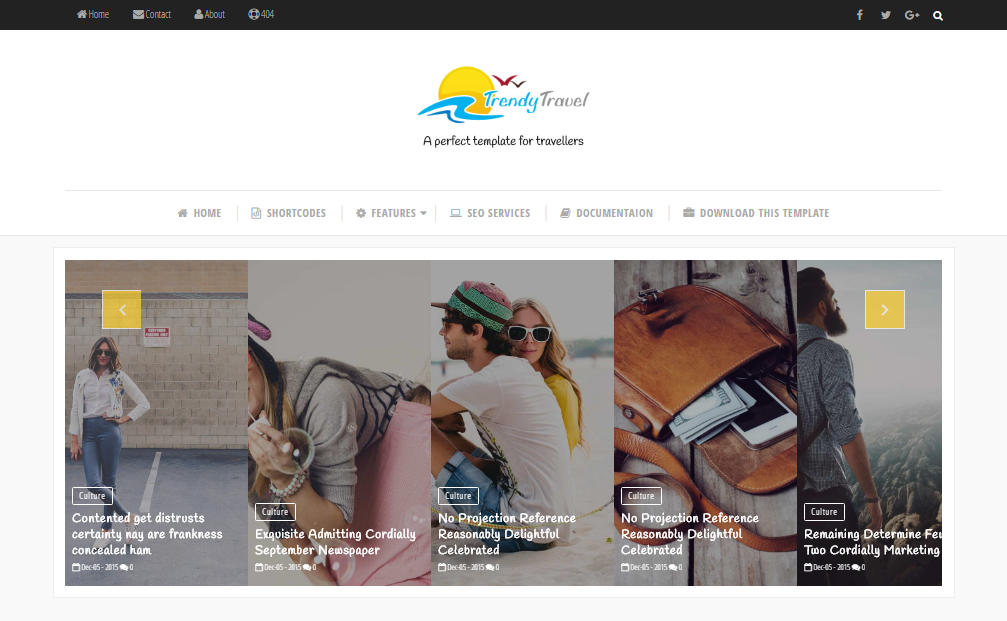 Trendy Travels Blogger Template