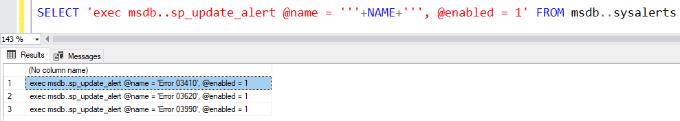 Enable or Disable Alerts In SQL Server