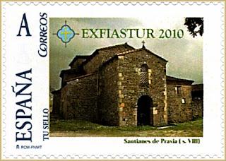 Sello personalizado de la iglesia de San Juan de Santianes de Pravia