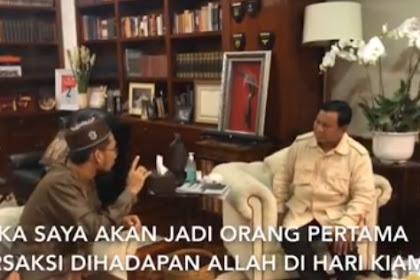 Pesan Menyentuh Ustadz Adi Hidayat Kepada Prabowo Jika Menang Pilpres