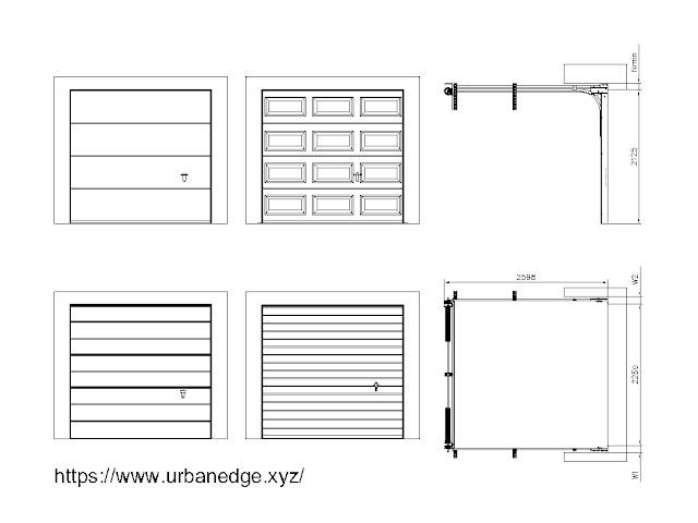 Sectional garage door cad blocks download, 5+ Garage door elevation section dwg