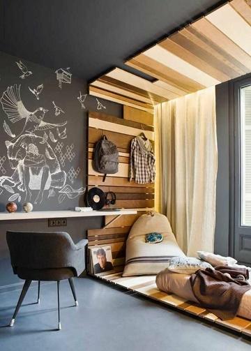 Dormitorios para j venes modernos dormitorios colores y for Cuarto de estudio para adultos