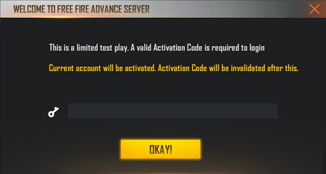 kode aktivasi Advance Server