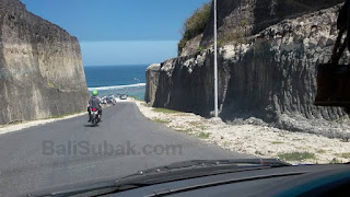 Road in Pandawa Beach (Secret Beach), Kuta, Bali